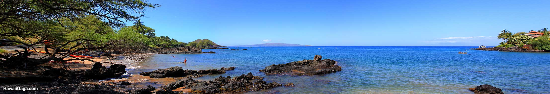 Makena Landing Beach Park panorama