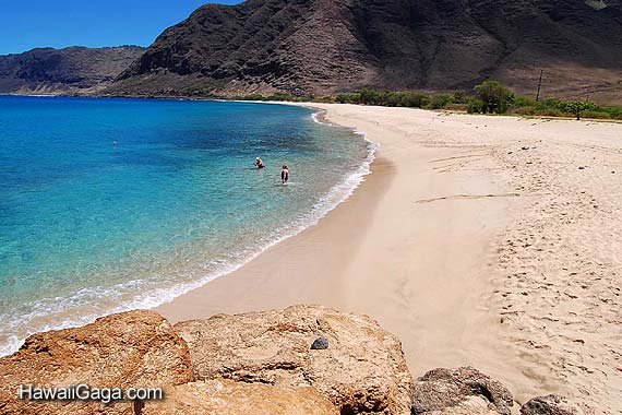 Makua Beach on Discount Hawaii Car Rental