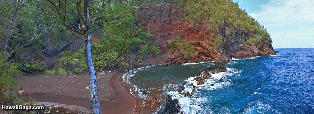 Red Sand Beach panorama