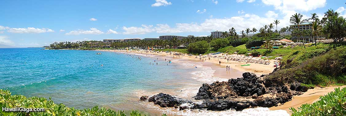 Wailea Beach panorama