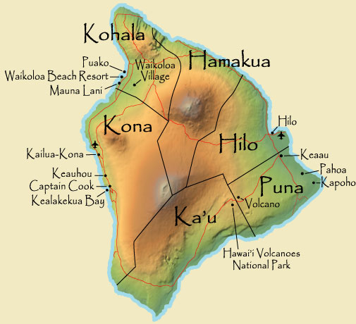 map of hawaiian islands and