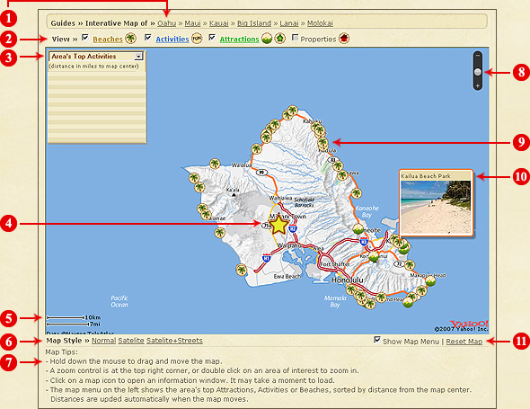 Interactive Hawaii Map Guides Oahu Big Island Kauai and Maui Maps – Maui Tourist Attractions Map