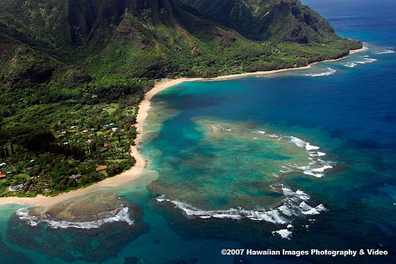 Tunnels Beach More Hawaii Aerial Pictures